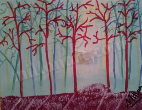 Angel Mazina - Mixed Media on Canvas 8'' x 10''