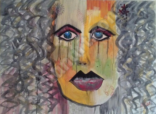 Ella - Mixed Media on Canvas 30'' x 40''