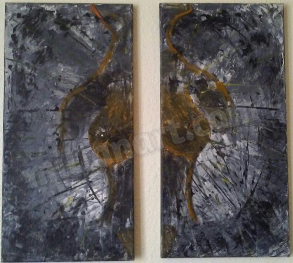 Freedom - Oil on Canvas 24'' x 12'' Each