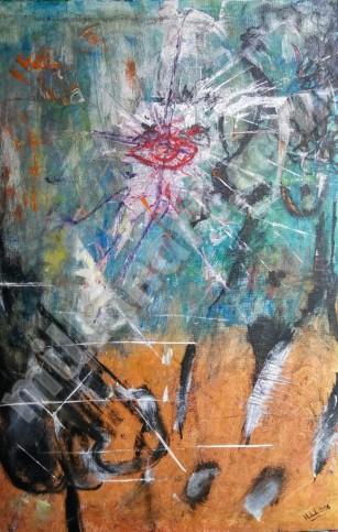 Hermanos - Mixed Media on Canvas 30'' x 50''