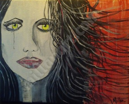In the Dark - Acrylic on Canvas 10''x 12''