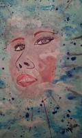 Terri - Mixed Media on Canvas 8'' x 10''