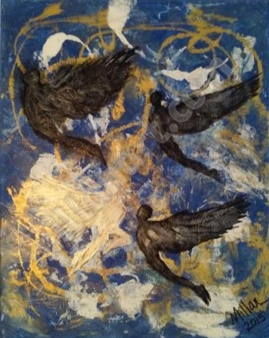 Transcendece - Mixed Media on Canvas 24'' x 16''