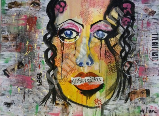 Woman in Secret - Mixed Media on Canvas 30''x 40''