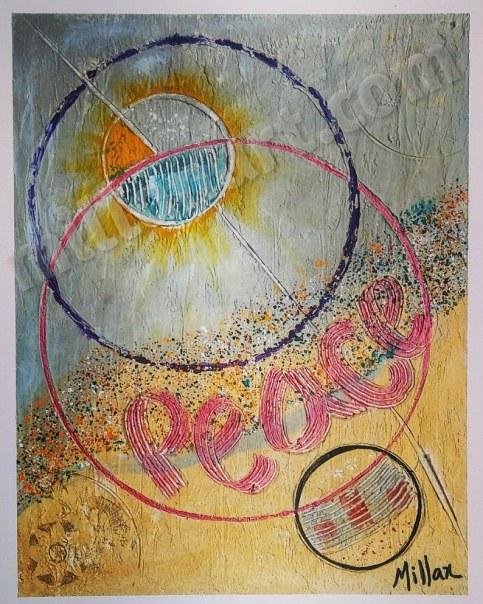 We need peace - Mixed Media on Canvas 16'' x 20''